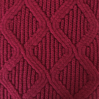 SCARVES - MERGE - LAMBSWOOL - Spanish Red -