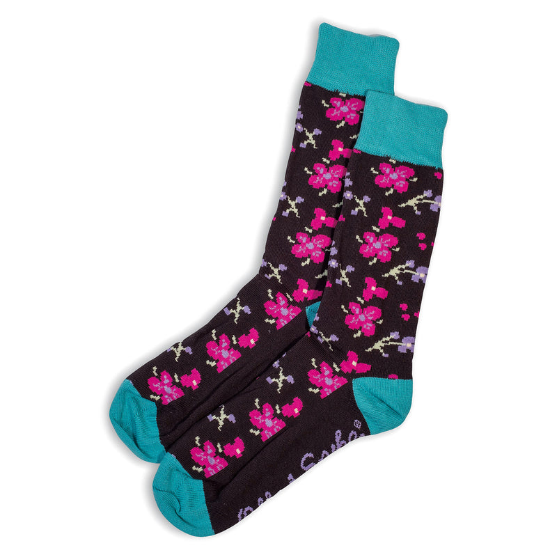 SOCKS - CHERRY BOMB - AUSTRALIAN COTTON - Charcoal / Main Image - 2-8