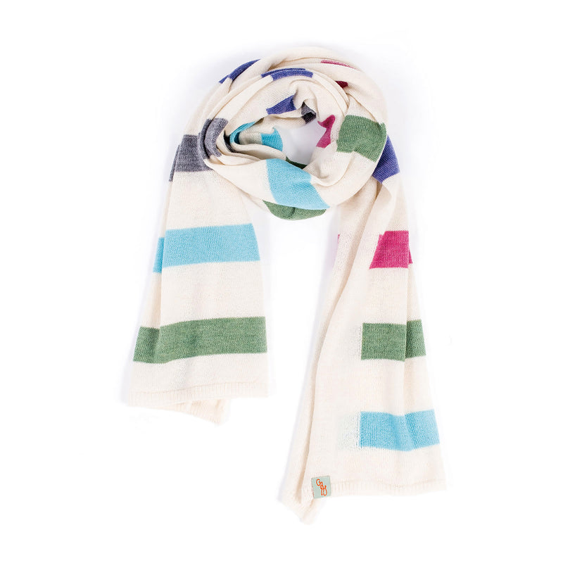 SCARVES - HUE - MERINO - Natural / Main Image -