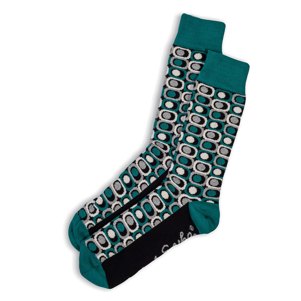 SOCKS - EYESORE - AUSTRALIAN COTTON - Teal / Main Image - 2-8