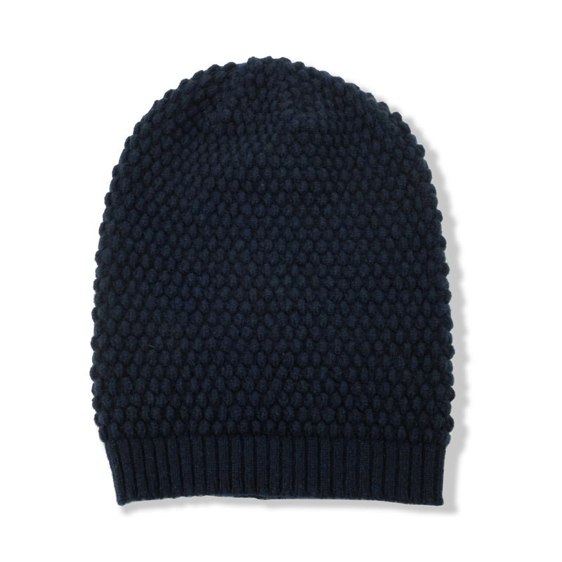 BEANIES - STEVIE - LAMBSWOOL - Navy / Main Image -