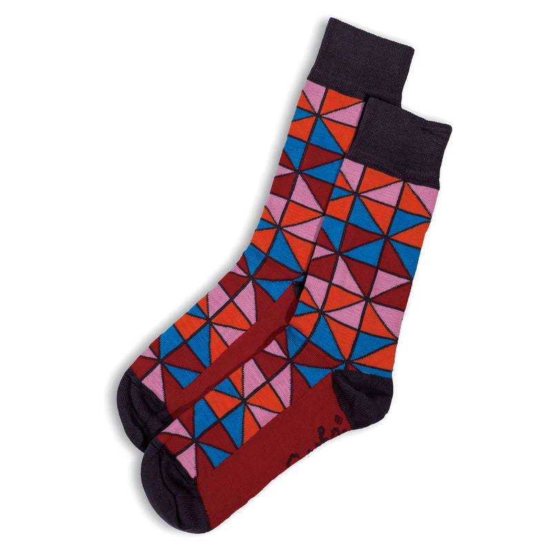 SOCKS - TIFFANY - AUSTRALIAN COTTON - Red / Main Image - 2-8