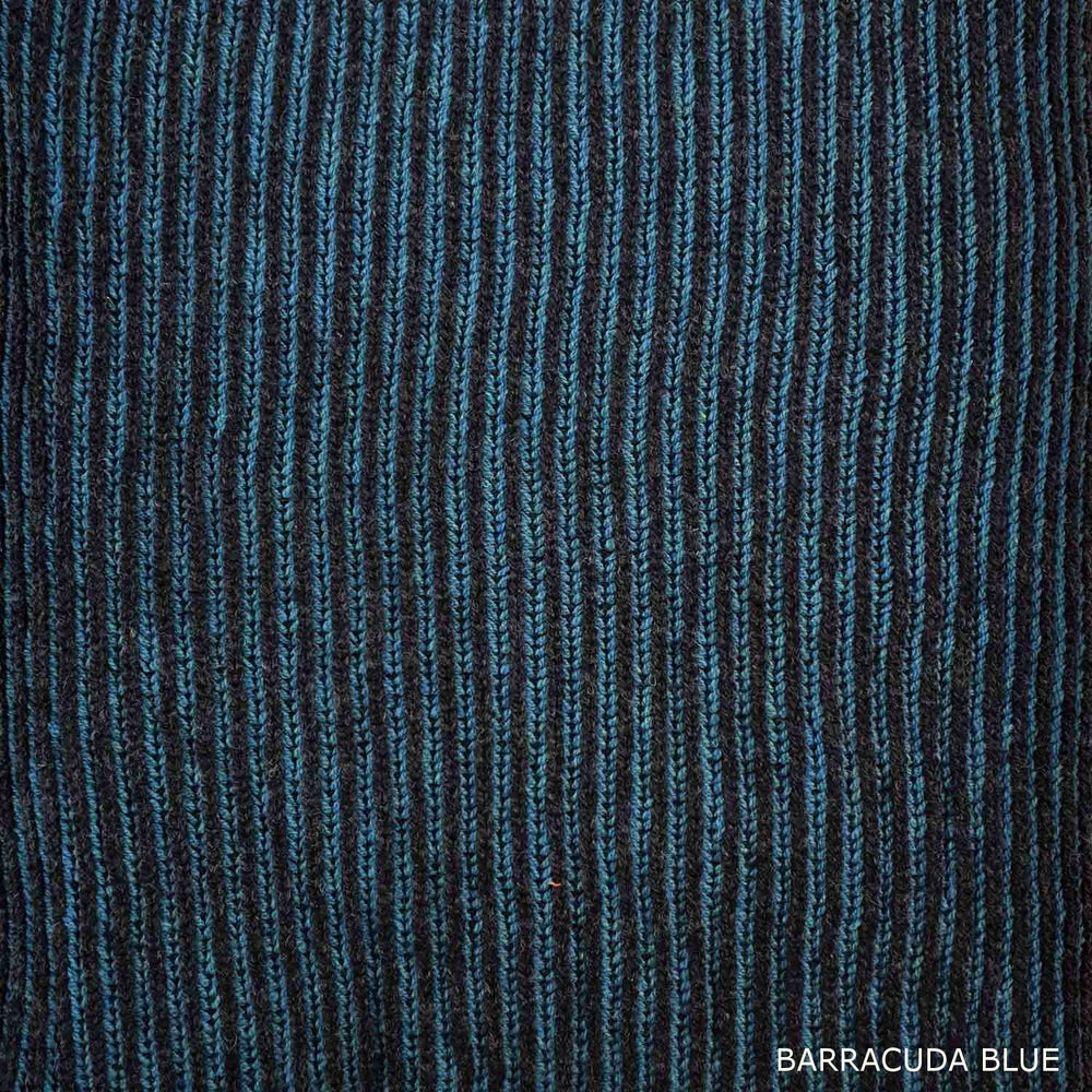 FISHERMAN SCARF - LAMBSWOOL - BARRACUDA BLUE -