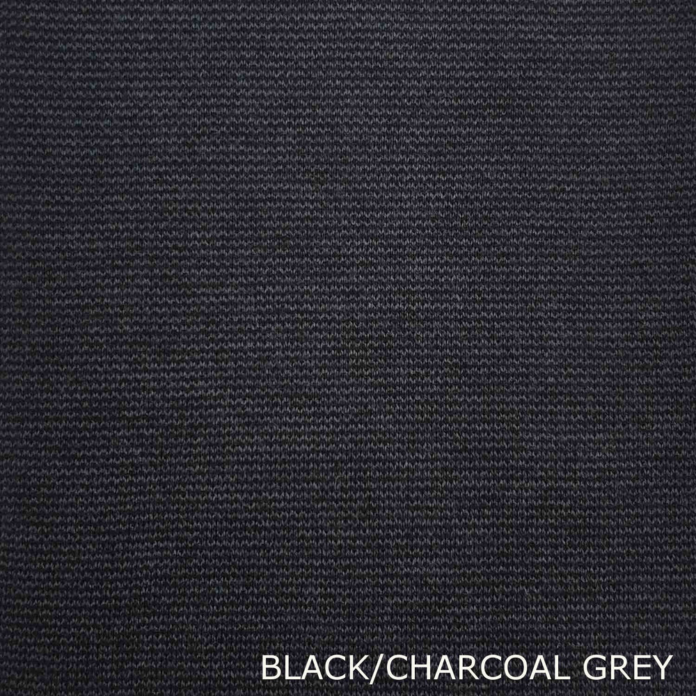 STAPLE SCARF - EXTRA FINE MERINO WOOL - BLACK/CHARCOAL GREY -