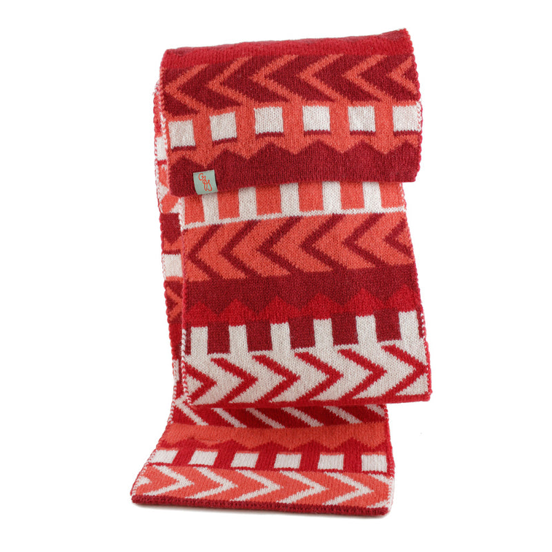SCARVES - CYNDI - LAMBSWOOL - Red / Main Image -
