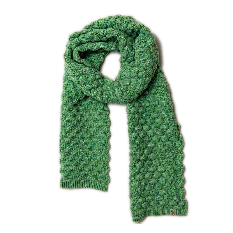 WOOL SCARVES - LUCKY - LAMBSWOOL - Springtime Green / Main Image -