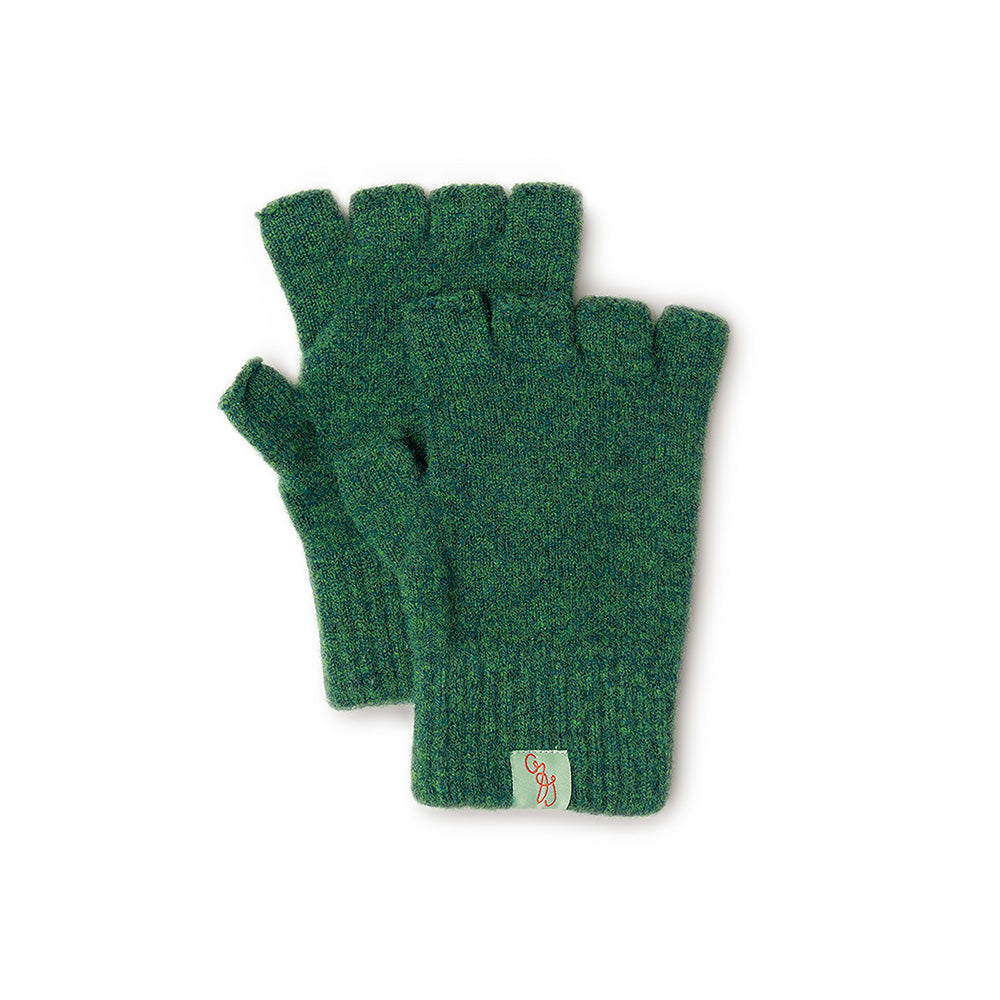 GLOVES - FAGIN -  FINGERLESS GLOVES - Cossack Green / Main Image -