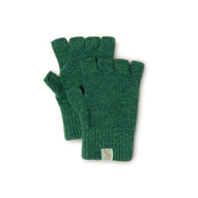 GLOVES - FAGINS -  FINGERLESS GLOVES LAMBSWOOL - Cossack Green / Main Image -