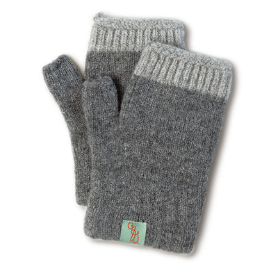 GLOVES - MITTENS - FINGERLESS GLOVES - Lt Grey Marle / Main Image -