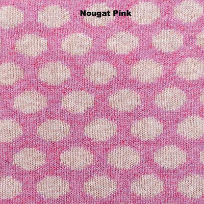 PONCHOS - DOT NOW - LAMBSWOOL - Nougat Pink -