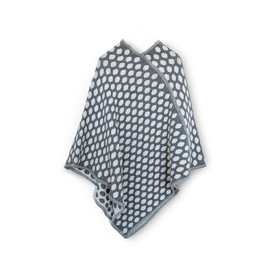 PONCHOS - DOT NOW - LAMBSWOOL - College Grey / Main Image -