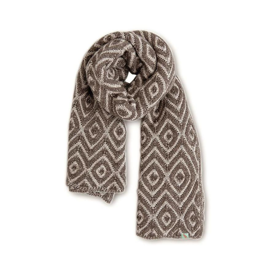 SCARVES - FEATHER - LAMBSWOOL - Beaver Brown / Main / Image -