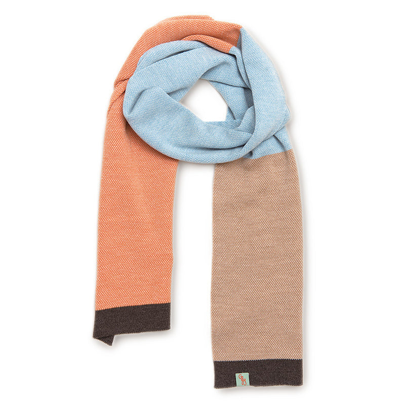 WOOL SCARVES - LOLLY - MERINO - Hickory / Camel / Main Image -