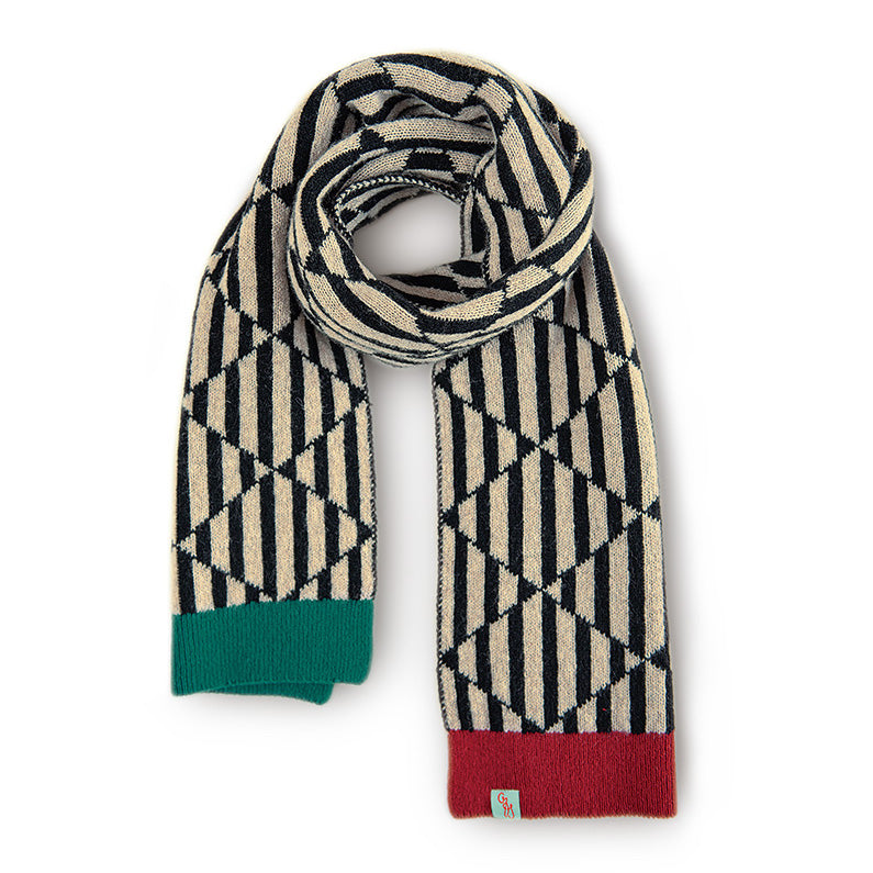 SCARVES - TRICKS - LAMBSWOOL - Black / Main Image -