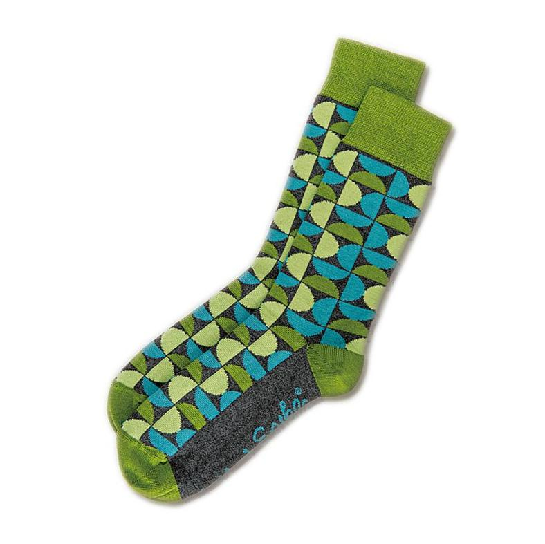 SOCKS - KINKY - AUSTRALIAN COTTON - 2-8 - Green / Main Image