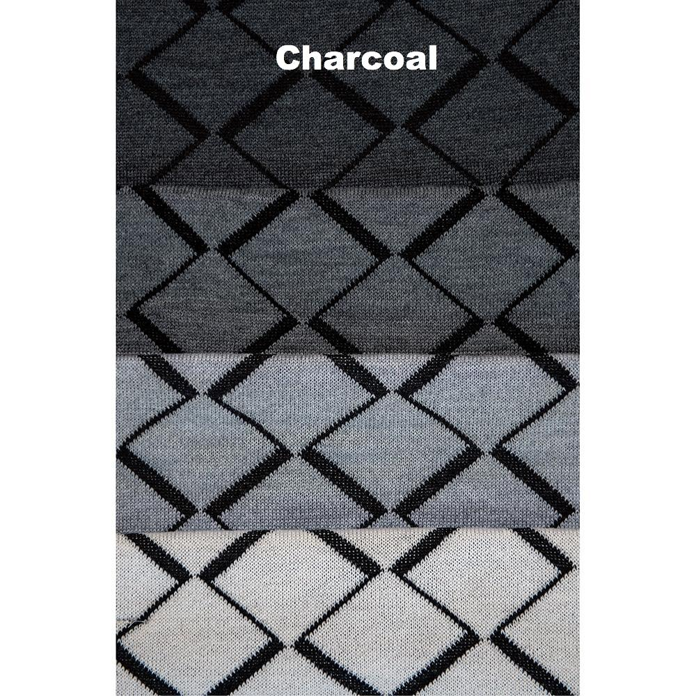 SCARVES - TIP TOE - WOOL SCARVES - Charcoal -