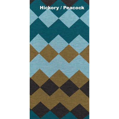SCARVES - HARLEQUIN - MERINO - Hickory / Peacock -