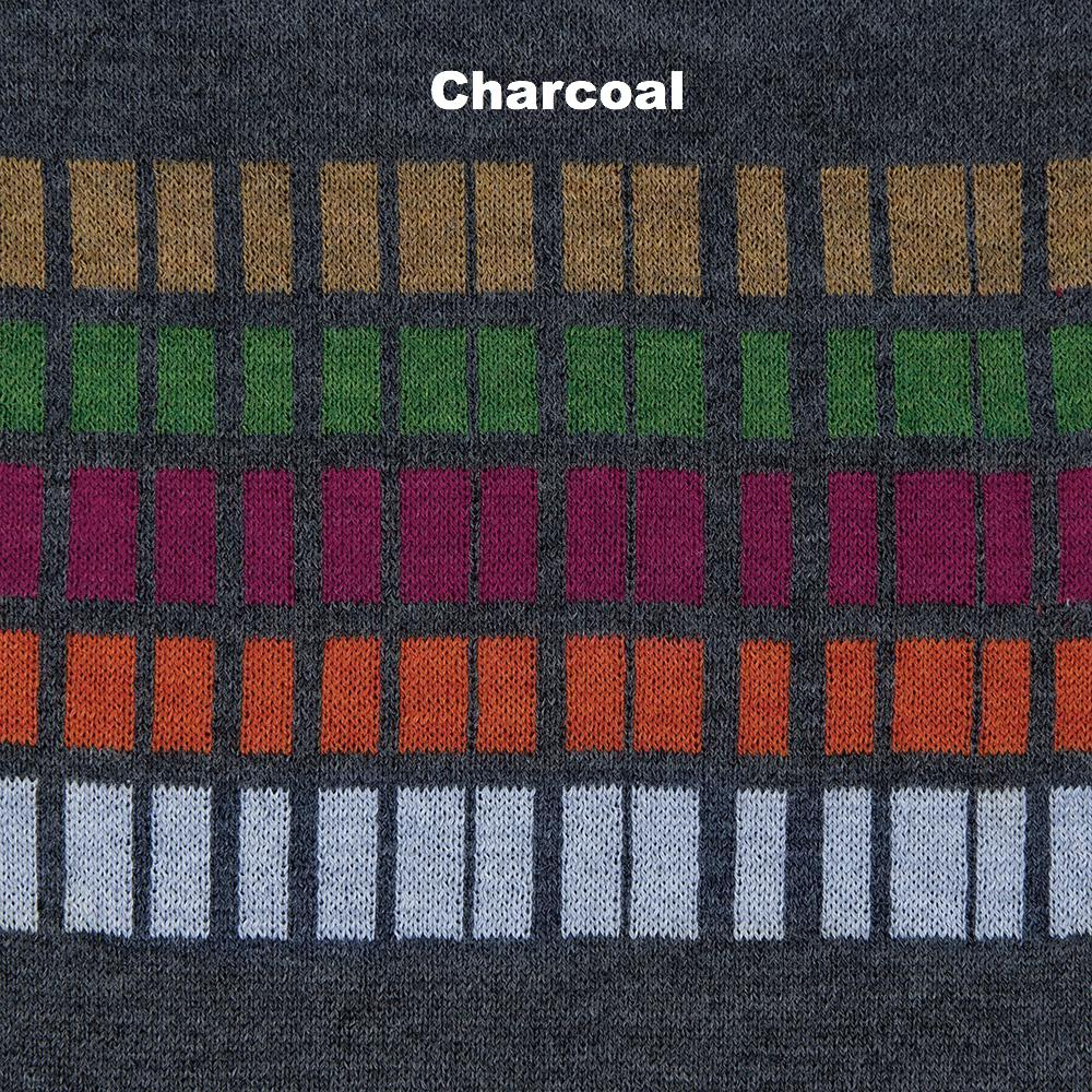 SCARVES - TIC TAC - MERINO - Charcoal -