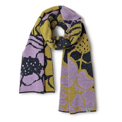 SCARVES - POPPY - WOOL SCARVES - Dusty Pink / Golden / Main Image -