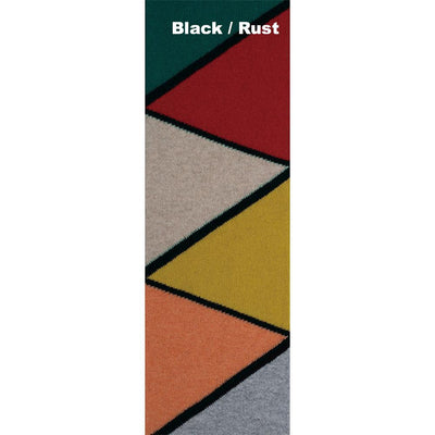 SCARVES - BAUHAUS - LAMBSWOOL - Black / Rust -