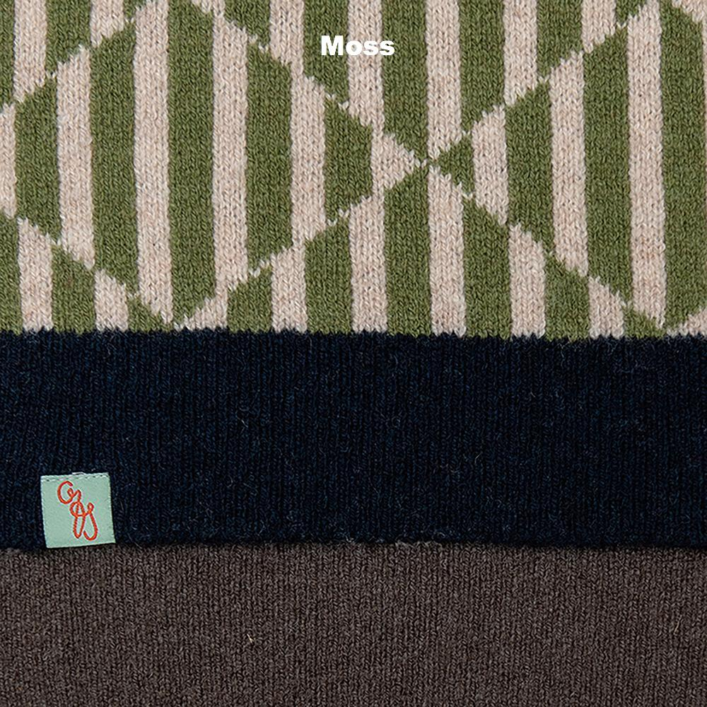 SCARVES - TRICKS - LAMBSWOOL - Moss -