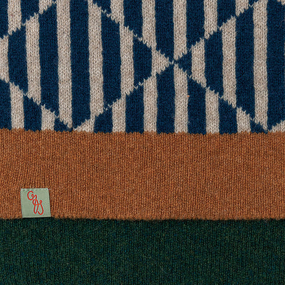 SCARVES - TRICKS - LAMBSWOOL - Diesel Blue -