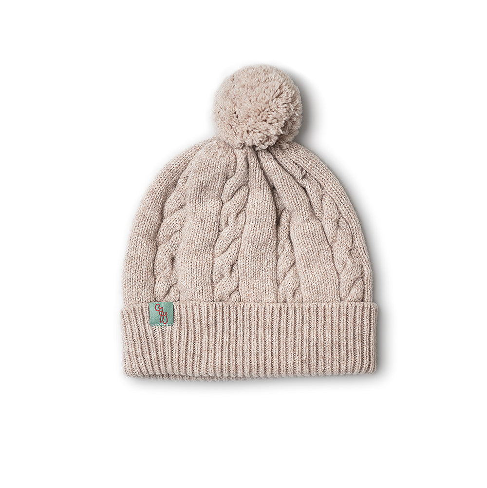 BEANIES - CABLE - WINTER HATS - Lt Beige Marle / Main Image -