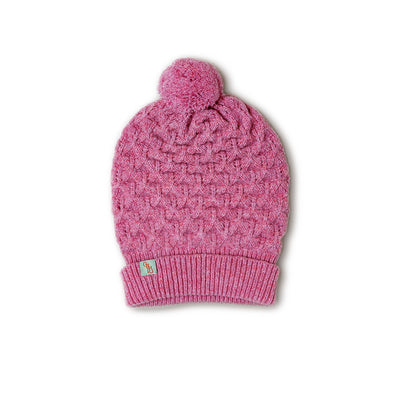 BEANIES FOR WOMEN - LUCKY - LAMBSWOOL - Nougat Pink / Main Image -