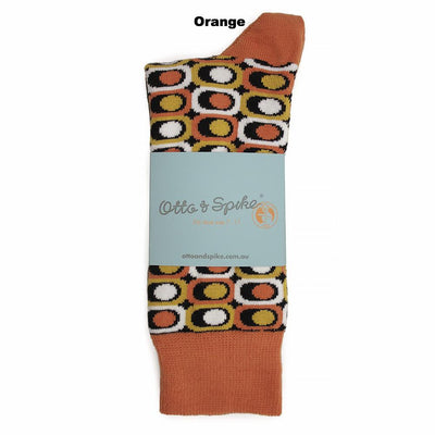 SOCKS - EYESORE - AUSTRALIAN COTTON - Orange - 2-8