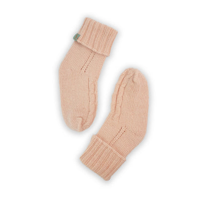 HOMIE'S  - HOUSE SOCKS - BEANIES FOR YOUR FEET - Small - Medium - Peach