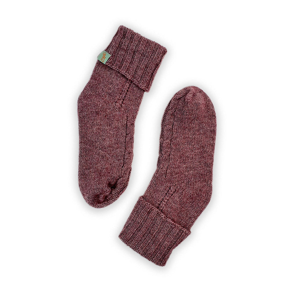 HOMIE'S  - HOUSE SOCKS - BEANIES FOR YOUR FEET - Small - Medium - Berry