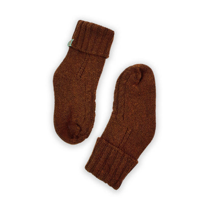 HOMIE'S  - HOUSE SOCKS - BEANIES FOR YOUR FEET - Small - Medium - Brown