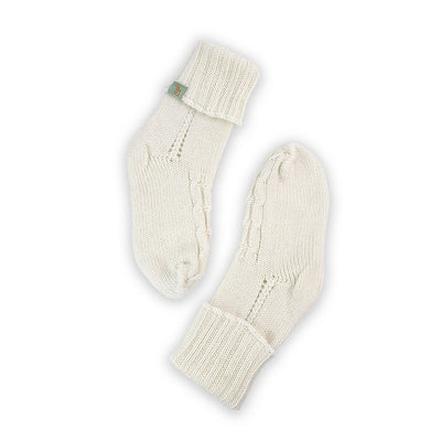HOMIE'S  - HOUSE SOCKS - BEANIES FOR YOUR FEET - Small - Medium - Cream