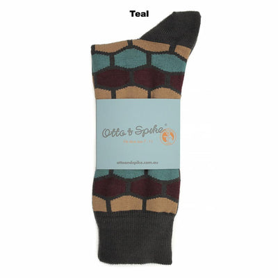 SOCKS - HONEY BUNNY - AUSTRALIAN COTTON - Teal - 2-8