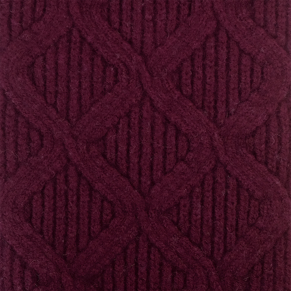SCARVES - MERGE - LAMBSWOOL - Bordeaux Maroon -