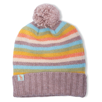 BEANIES FOR WOMEN - NUMERO UNO - LAMBSWOOL - Brush / LT Beige Marle / Main Image -