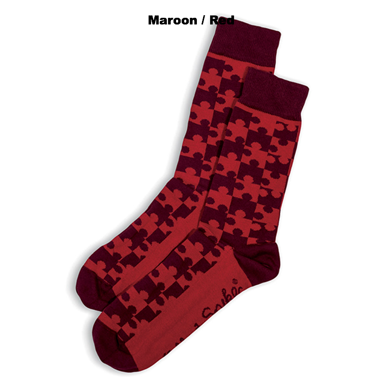 SOCKS - JIGSAW - AUSTRALIAN COTTON - Maroon / Red - 2-8