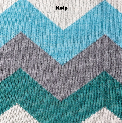BLANKETS - WINGDINGS - MERINO WOOL - Kelp / Aqua Wash - Extra Small