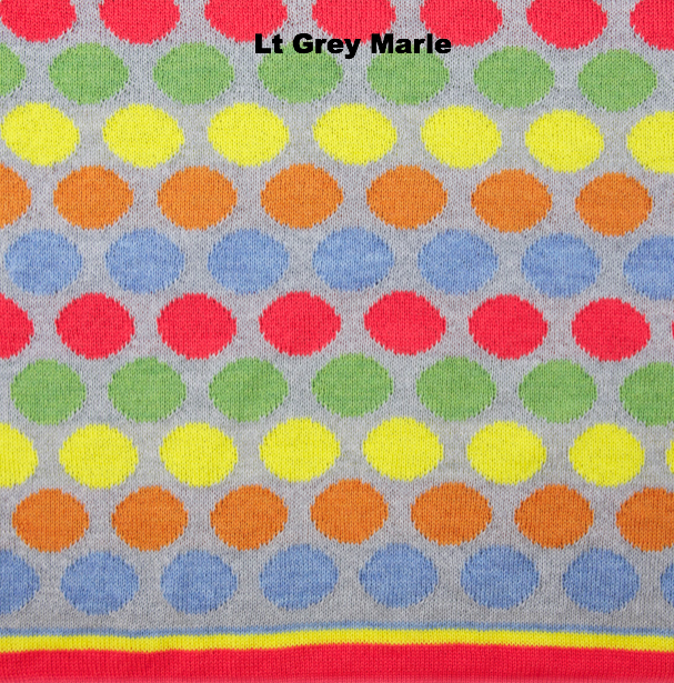 PERSONALISED BLANKETS - RAINBOW LOVE - LT Grey Marle - Extra Small