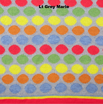 BLANKETS - RAINBOW LOVE - BABY BLANKETS - LT Grey Marle - Extra Small