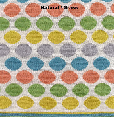 PERSONALISED BLANKETS - RAINBOW LOVE - Natural / Grass - Extra Small