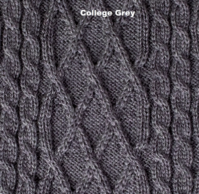 BLANKETS - BRIOCHE - WOOL BLANKETS - College Grey - Extra Small