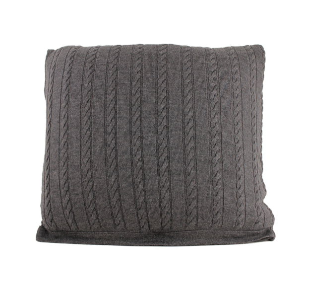 CUSHIONS COVER - BRIOCHE CUSHIONS - MERINO - Charcoal - Breakfast