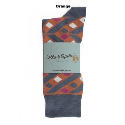 SOCKS - HELTER SKELTER - AUSTRALIAN COTTON - Orange - 2-8