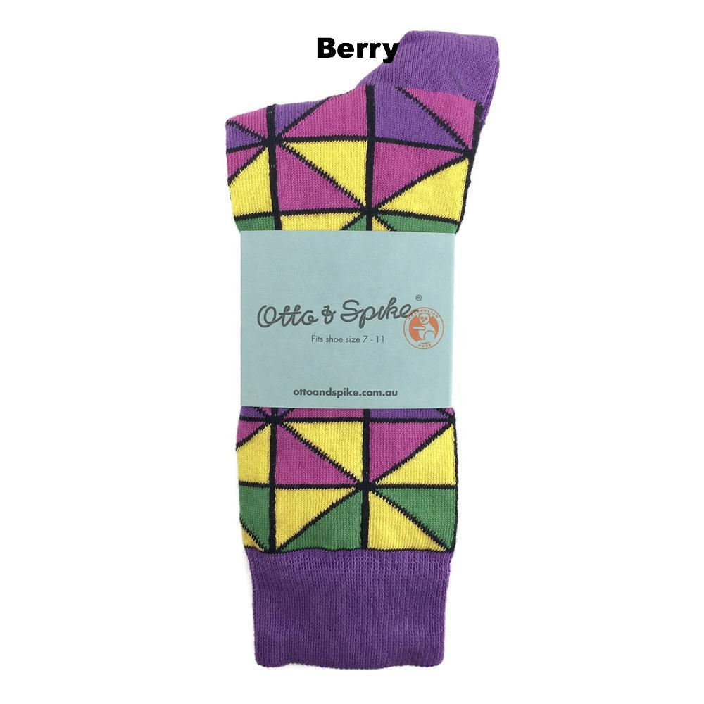 SOCKS - TIFFANY - AUSTRALIAN COTTON - Berry - 2-8