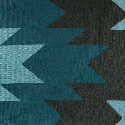 WOOL BLANKETS - STARSTRUCK - THROW AND BLANKETS - Medium - Peacock Aqua / Marle