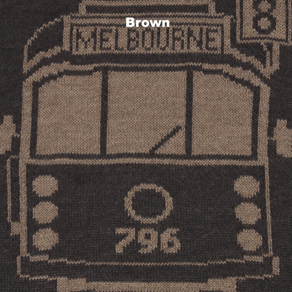 SCARVES - TRAM I AM - MERINO - Brown -