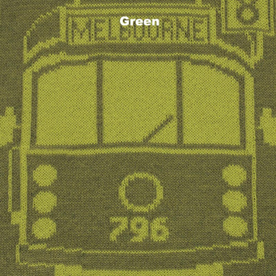 SCARVES - TRAM I AM - MERINO - Green -