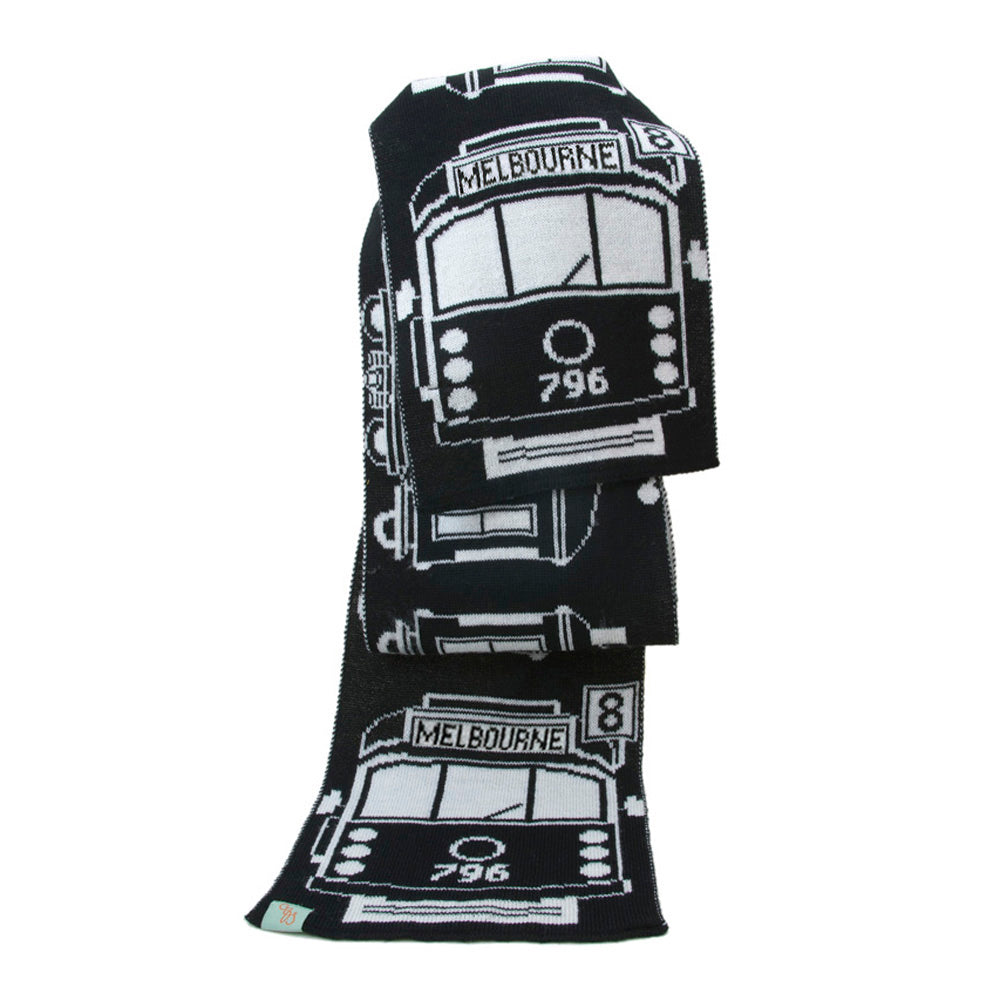 SCARVES - TRAM I AM - MERINO - Black / Main Image -
