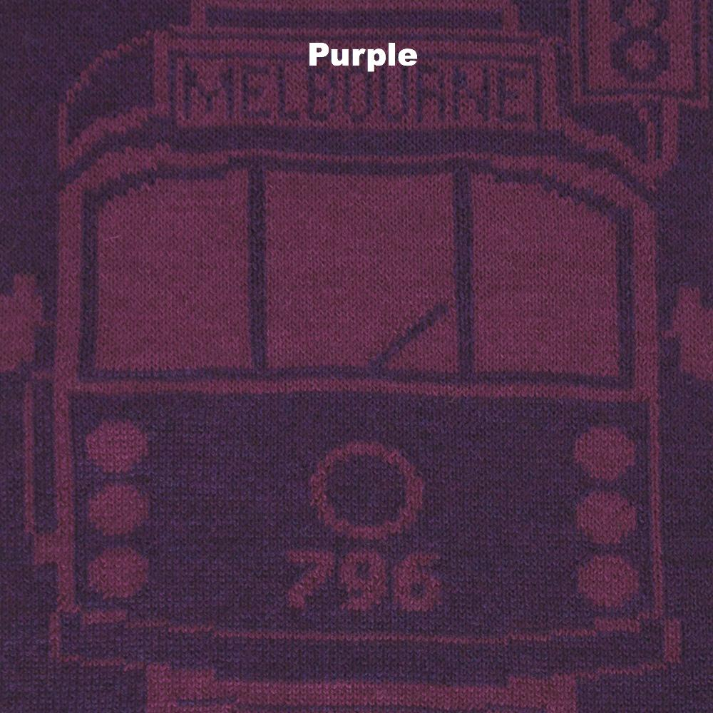 SCARVES - TRAM I AM - MERINO - Purple -